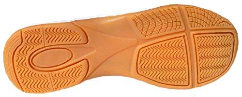 gibra - Zapatillas para deportes de interior de Material Sintético para niño naranja