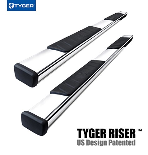 TYGER RISER For 15-16 Chevy Colorado/GMC Canyon Extended Cab 4inch Stainless Steel Side Step Nerf Bars Running Boards