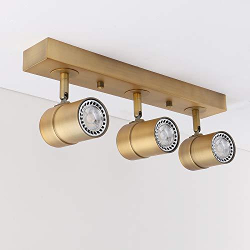 Pathson Vintage Style Tracking Lighting, 3 Lights Indoor Ceiling Light Fixtures, Chrome Antique Finished Hanging Spotlights ()
