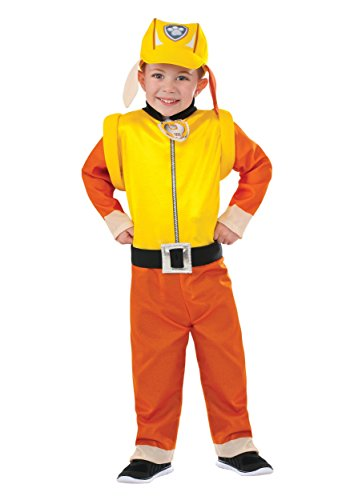 [Rubie's Costume Paw Patrol Rubble Value Child Costume, Small] (Pup Patrol Costume)