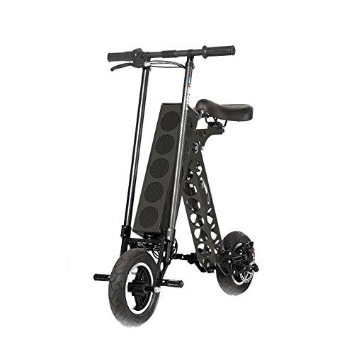 URB-E Folding Electric Scooter, Classic Black