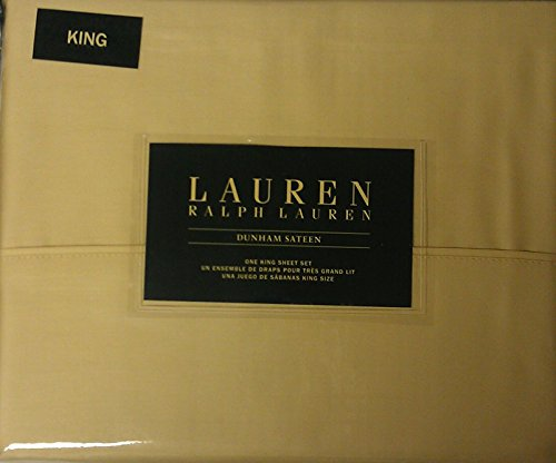 (Lauren Ralph Lauren Dunham Sateen Italian Straw King Sheet Set)