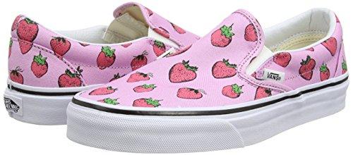 Rosa True Classic Baja Slip Strawberries on Pastel Adulto Zapatilla White Unisex Lavender Vans RqTwnAxx