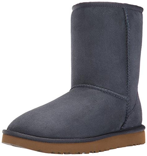 UGG Women's Classic Short II Winter Boot, Navy, 9 B US ()
