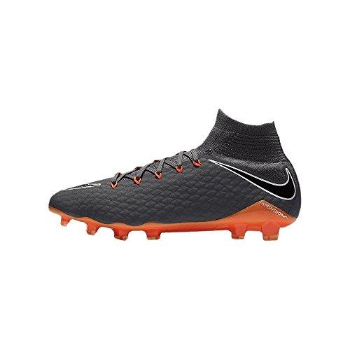 Nike Hypervenom Phantom III Pro Dynamic Fit FG Hard Ground Adult 41Football Boot Football Boots (Hard Ground Adult, Male, Sole with Studs, Grey, Orange, White, Monotone)