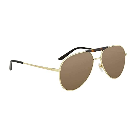 0619f3ee66e Gucci Brown Aviator Sunglasses Gg0242S 002 59  Amazon.co.uk  Clothing