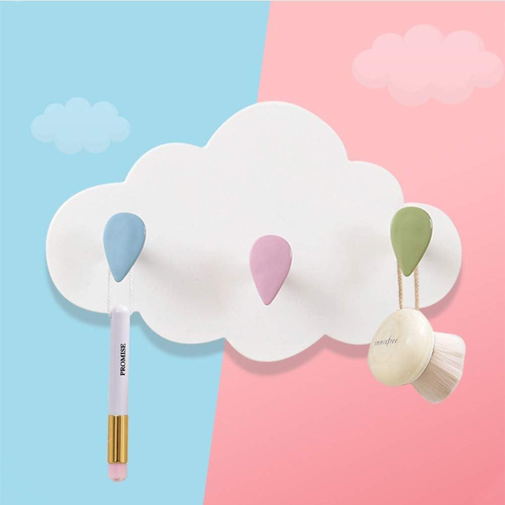 Wandhaken Wolken Selbstklebende Haken f/ür Wand und Tapete Kinderzimmerregal Wandregal Kindergarderobe Selbstklebende Haken Kein Bohren