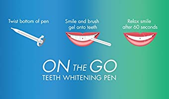Amazon Com Auraglow Teeth Whitening Pen 44 Carbamide Peroxide 20 Whitening Treatments No Sensitivity 2ml Health Personal Care