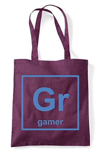 Gaming Element Tote Gr Gamer Elements Shopper Periodic Of Bag Plum Table Statement wqTU85UY
