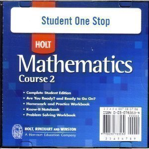 Holt Mathematics Course 2: Student One-Stop CD-ROM 2007