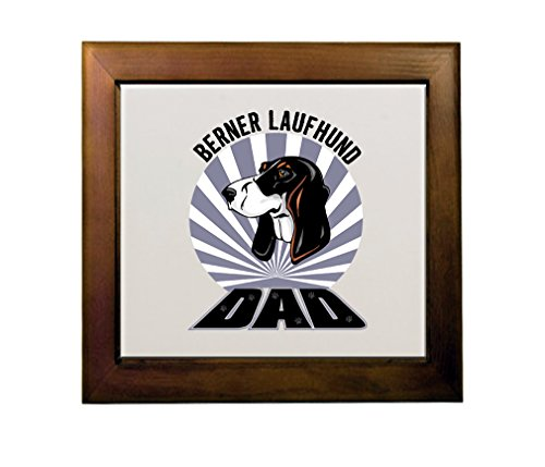 Price comparison product image BERNER LAUFHUND DOG DAD Ceramic Tile in Wood Frame