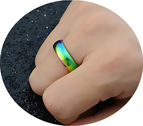 Stainless Steel Rainbow Ring for Men and Women - 1