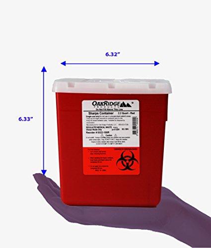Oakridge Products 2 2 Quart Size Needle Disposal Container