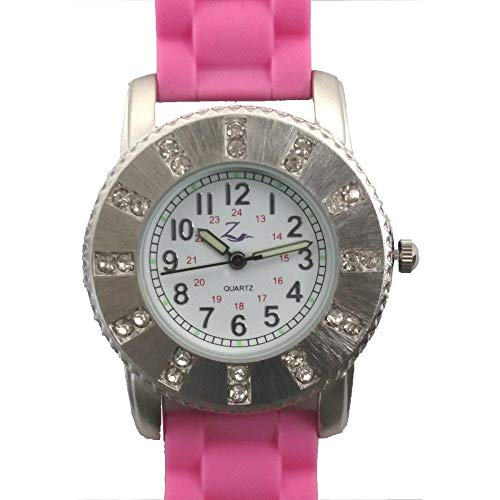 Band Adjustable Jelly - Nurses Watch Night Glow In Dark Pink Jelly Band Diva