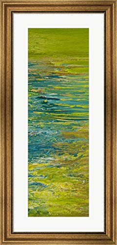 The Lake I by Roberto Gonzalez Framed Art Print Wall Picture, Wide Gold Frame, 18 x 37 inches ()