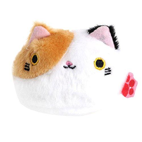 Nankod Jouet en peluche, 3,15 x 3,15 pouces/8 x 8 cm, cadeau de poupée animal doux peluche chat mignon pour les filles garçons garçons, 4