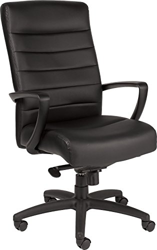 Manchester Leather Office Chair - Eurotech Seating Manchester LE150-BLKL High Back Leather Chair, Black