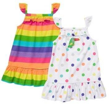Carters Baby Girls' Multi Dot 2 Pack Sleevless Dress Set
