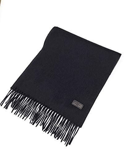 Hickey Freeman Navy - Men's Cashmere Scarf - Navy/Grey Mix, 100% Italian Cashmere, 72 inches x 12 inches, by Hickey Freeman