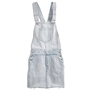 Lucky Brand Sleeveless Square-Neck Jean Skirt-Overalls, Beach Wash