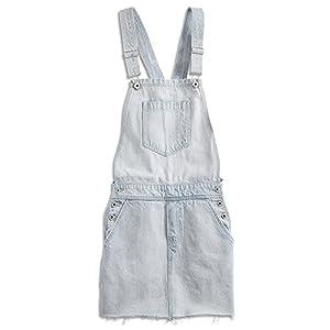 Lucky Brand Sleeveless Square-Neck Jean Skirt-Overalls, Beach Wash