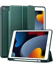 جراب Maledan لجهاز iPad من الجيل الثامن - جراب iPad 10.2 لعام 2020 ، جراب واقٍ من مادة البولي يوريثان الحراري الناعم Smart Folio مع حامل أقلام رصاص من Apple لجهاز iPad 8th - 7th Gen ، النوم - الاستيقا