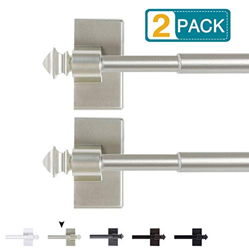 Magnetic Curtain Rods for Metal Doors Multi-Use Adjustable Curtain Rods for Small Windows Cafe Sidelight and Iron Steel…