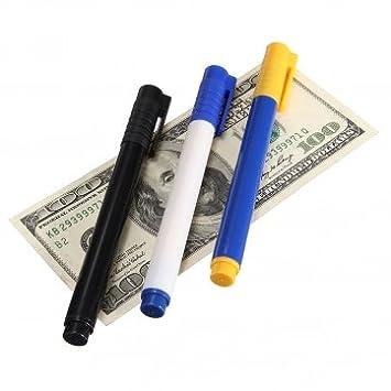 dinero corrector detector de billetes falsos detector de moneda falsificada pluma: Amazon.es: Electrónica