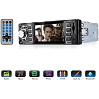 Car Stereo,Single Din Car Radio,4.1 inch Screen Bluetooth Car Audio Stereo Receiver In Dash 12V MP5 Player/USB/SD Card/AUX/FM with Remote Control