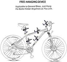 RUNACC Portabidón de bicicleta Ajustable Portabidón para bicicleta ...
