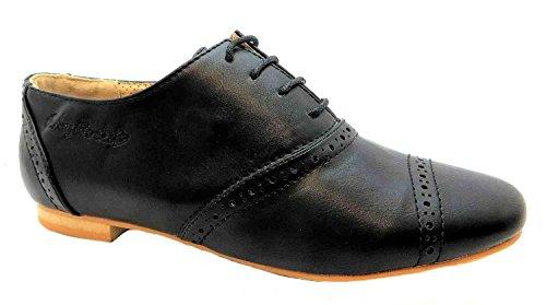 Ruby Rocks  Monty, Chaussures de ville à lacets pour femme Noir noir