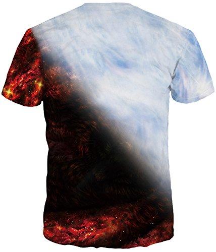 Stampa Con Colorate shirts Lupo Ragazzi Rosso Design A Corte Emilyle E T Magliette Maniche Per Cool Uomini 3d Bianco tQhrsd