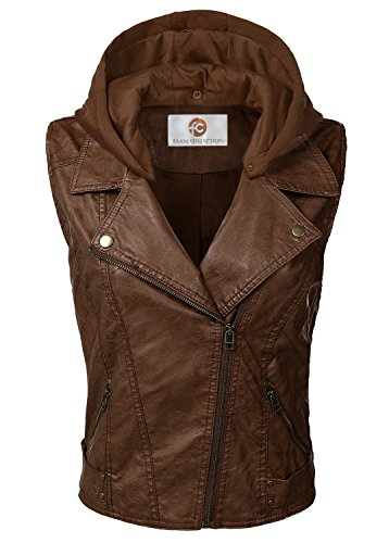 - Faam Collection Short Body Leather Vest for Women - Women's Lambskin Leather Vest (Medium)