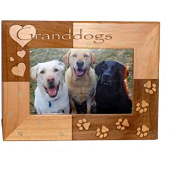 granddogs 4 x 6 wood photo frame