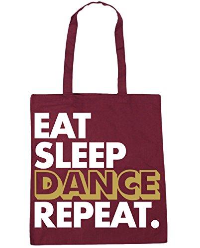 Dance 10 Gym x38cm Sleep Repeat 42cm Tote HippoWarehouse Burgundy litres Bag Beach Shopping Eat Y4xCPRnqwE