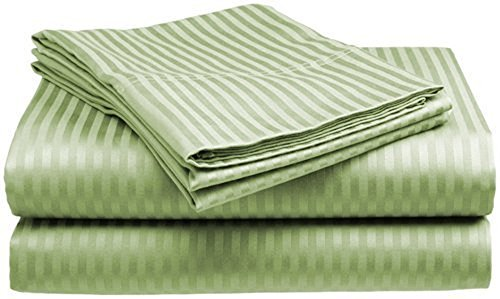 King Size 4 Pc Bedding Set - 1800 Series Hypoallergenic Wrinkle Free Bed Linens with Brushed Luxury Microfiber | Includes 2 Pillows|1 Fitted|1 Flat Bed Sheet (Egyptian Quality Collection) - Sage