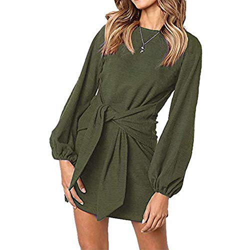 Army Fancy Dress - ALAIX Women's Casual Dress Crewneck Long