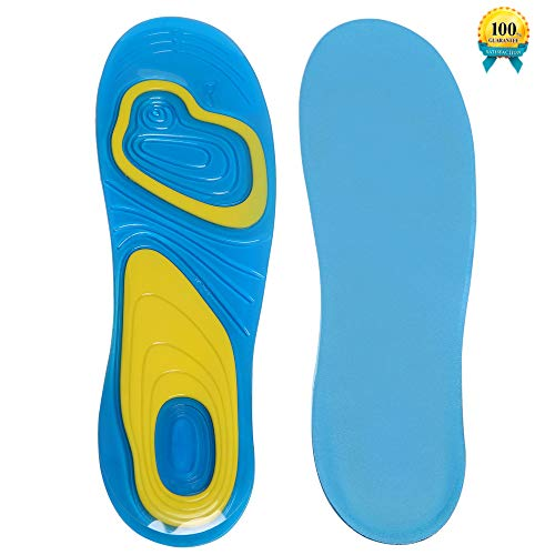 Insoles for Women, Super Sole TPE Replacement Shoe Insoles with Breathable Cushion, Foot Massage and Shock Absorption - Adjustable Size