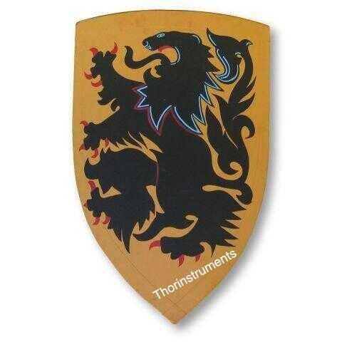 中世ライオンCrusder Shield – Hand Painted中世ライオンCrusder Shield B01A0LK8NM