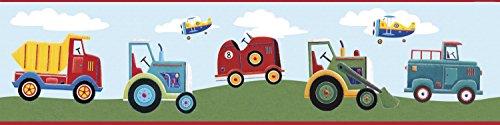 Transportation Peel & Stick Border Wall Decal 5 x (Trucks Wall Border)