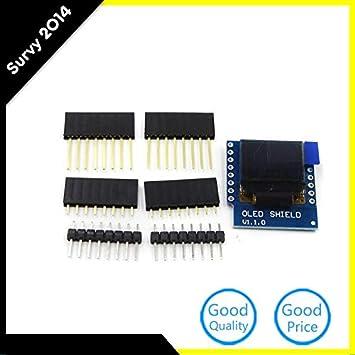 """OLED Shield for WeMos D1 mini 0.66/"""" inch 64X48 IIC I2C"""