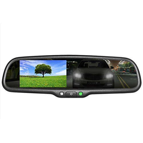 "Master Tailgaters OEM Rear View Mirror with 4.3"" Auto Adjusting Brightness LCD + Auto Dimming Mirror - Universal Fit"