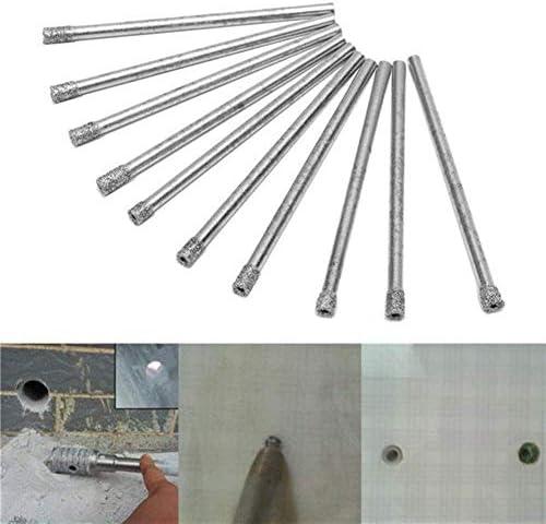 ドライバーセット、ドリルダイヤモンドコーティング10個3 mm穴のこぎりドリルビットセットコア大理石ガラス花崗岩ドリルビットドリルアクセサリー