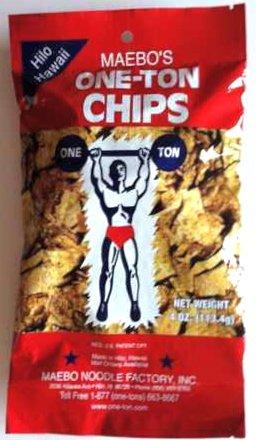 Maebo's One-Ton Chips Won Ton Crackers 6 Bags - 4 oz. each