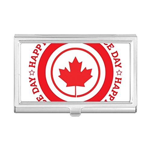 Cananda Maple Leaf and Independence Business Card Holder Case Wallet