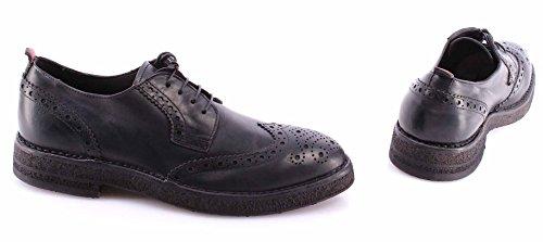 Zapatos Clásicos Hombre MOMA 54505-TA Hannover Nero Vintage Cuero Negro Nuevo
