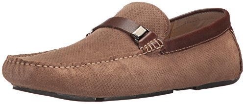 Kenneth Cole Reazione Mens Convogliare La Parola Slip-on Loafer Taupe