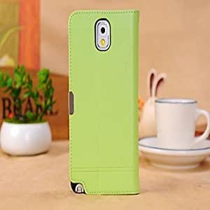 get Luxury Case Wallet Leather Case for Samsung Galaxy Note 3 , Green