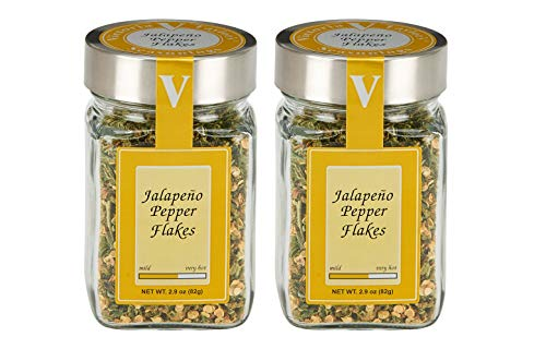 Jalapeno Pepper Flakes - 2 Pack - Add them to chili, pizza, pasta, marinades or any spicy recipe. VICTORIA TAYLOR'S BY VICTORIA ()
