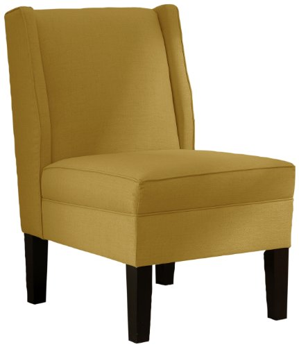 Skyline Furniture Linen Wingback Chair, French Yellow (Wingback Chair Yellow)